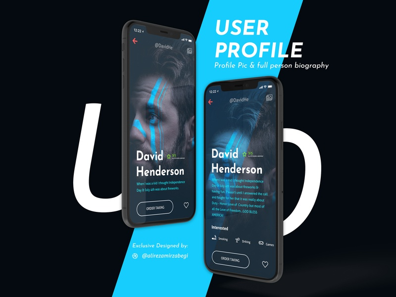 User Profile UI/UX Design illustrator flat illustrations user experience illustration interface icon typography uiux dailyui daily ui ui design ux design exprience application app dribbble design ux ui