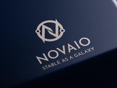 Logo Design Novaio Co exprience flat web icon typography branding illustration design illustrations illustrator logo