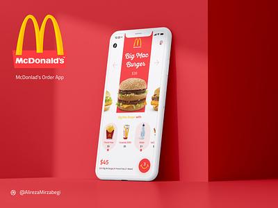 McDonald's Order App ui design exprience app design ui ux fastfood app fastfood delivery app food app food burger mcdonalds mcdoland