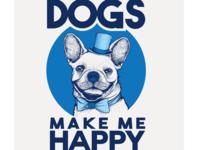 realist dog logo concept