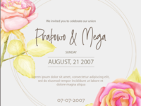 floral wedding invitation watercolor concept
