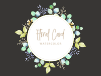Floral Card watercolor theme