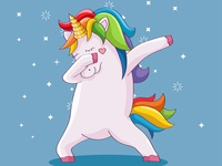 cute unicorn doing dabbing