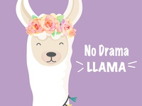 cute llama with roses crown