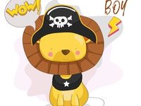 cute pirates Lion