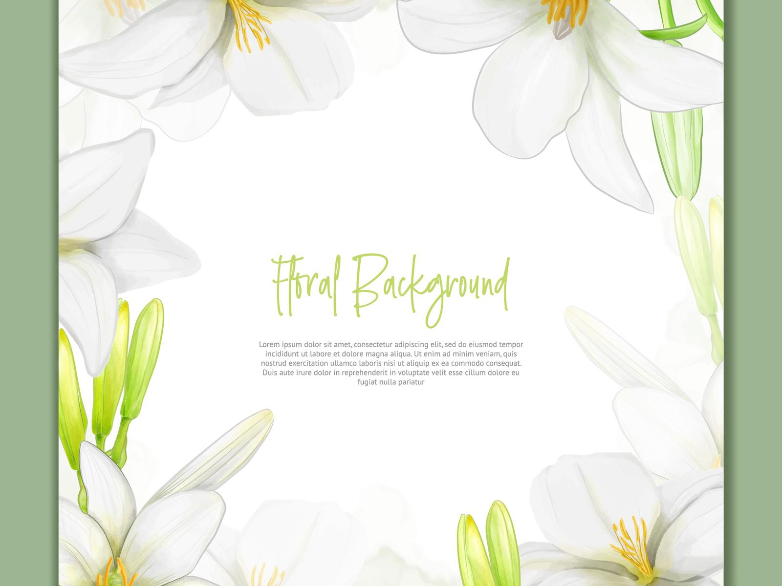 Beautiful lily flowers background in watercolor style by volcebyyou httpsfreepikpremium vectorbeautiful lily flowers background in watercolor style3028910m izmirmasajfo