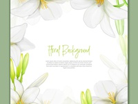 Beautiful lily flowers background in watercolor style