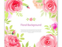 Beautiful background floral watercolor
