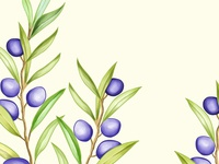 olive background watercolor