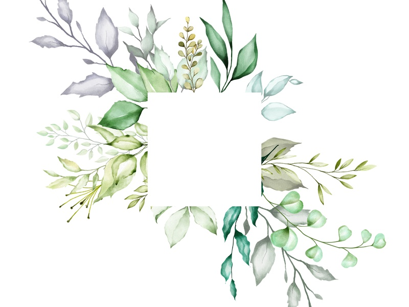 Watercolor Floral Frame Multi-Purpose Background by ...