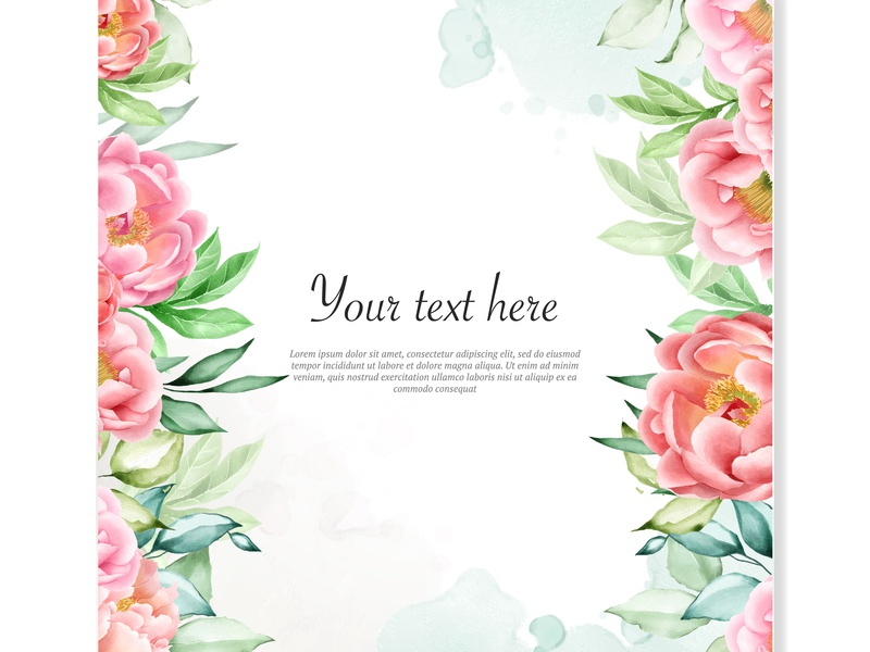 Watercolor Floral Frame Background By Volcebyyou Studio Dribbble