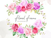 beautiful watercolor bouquet card