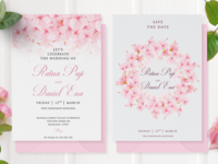 watercolor cherry blossom frame multi purpose background