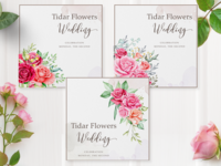 watercolor floral frame and background multi purpose background