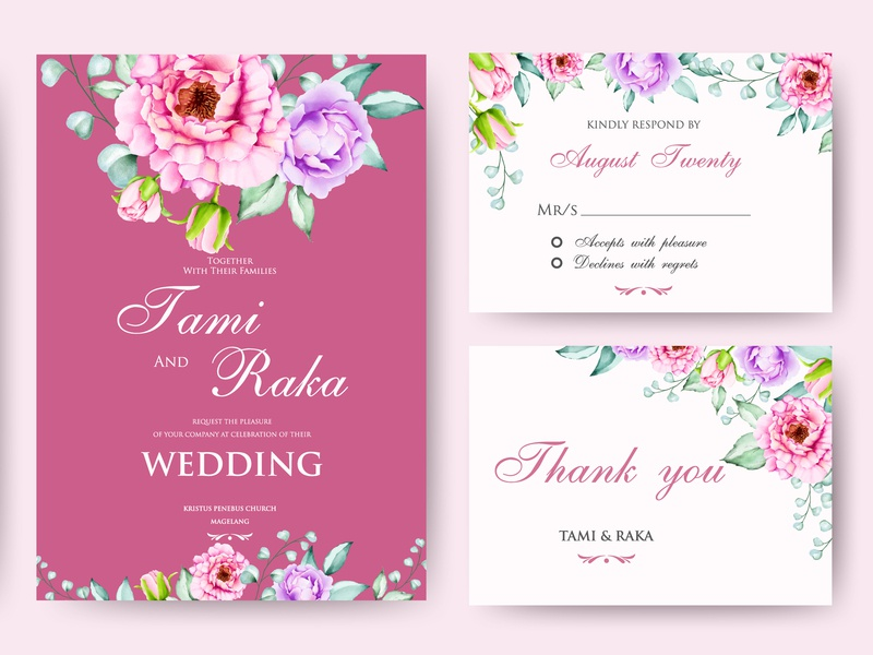 wedding invitation card with watercolor floral and leaves greenery celebration summer bouquet decoration elegant frame set leaf spring nature invite invitation vector design watercolor card illustration wedding floral