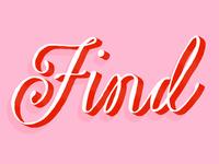 Find lettering