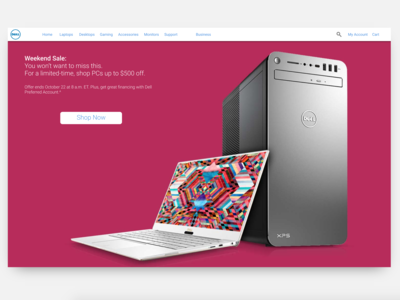 Dell.com Landing Page Concept