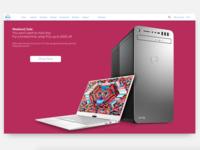 Dell.com Landing Page Concept