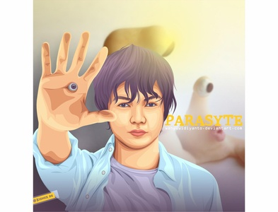 Parasyte parasyte parasite movie graphicdesign photomanipulation cartoon indonesia design illustration coreldraw portrait lineart vector