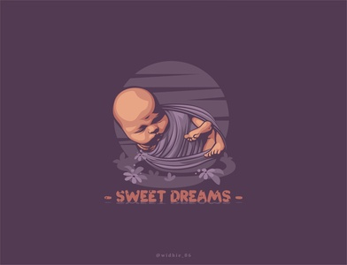 Sweet Dreams photomanipulation baby graphicdesign design logo branding cartoon coreldraw illustration lineart vector