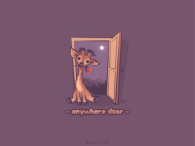 Anywhere Door ui photomanipulation animal coreldraw indonesia graphicdesign cartoon illustration lineart vector branding logo