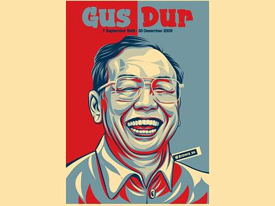 Gus Dur graphicdesign design portrait indonesian coreldraw indonesia photomanipulation illustration lineart vector hopestyle hopestyle