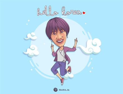 Ria SW design girl cartoon indonesia graphicdesign photomanipulation portrait illustration coreldraw lineart vector