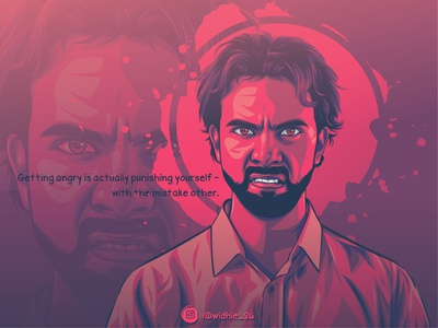 Angry Boy design graphicdesign indonesia cartoon photomanipulation illustration lineart coreldraw portrait vector