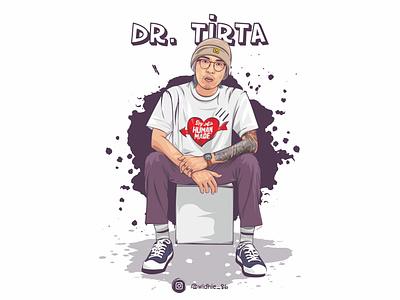 dr. Tirta graphicdesign cartoon photomanipulation indonesia design illustration coreldraw lineart vector covid-19 corona doctor