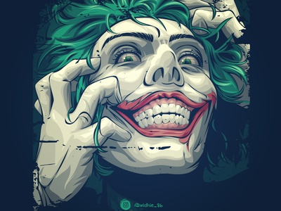 Joker joker123 joker movie indonesian cartoon photomanipulation portrait illustration lineart coreldraw vector joker