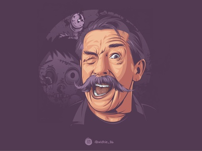 Blink mustache graphicdesign mustache cartoon indonesia vector lineart coreldraw photomanipulation illustration portrait