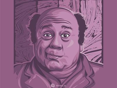 Danny DeVito graphicdesign photomanipulation cartoon design portrait illustration coreldraw lineart vector expression frown