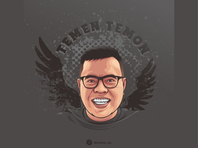 Abdel Achrian graphicdesign cartoon photomanipulation indonesia design portrait illustration comedian coreldraw lineart vector