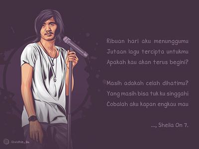 Duta So7 graphicdesign portrait cartoon photomanipulation indonesia design illustration coreldraw lineart vector vocalist