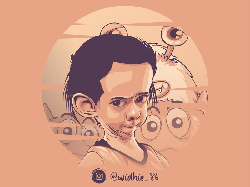 Angry 2 indonesia design coreldraw illustration portrait lineart vector