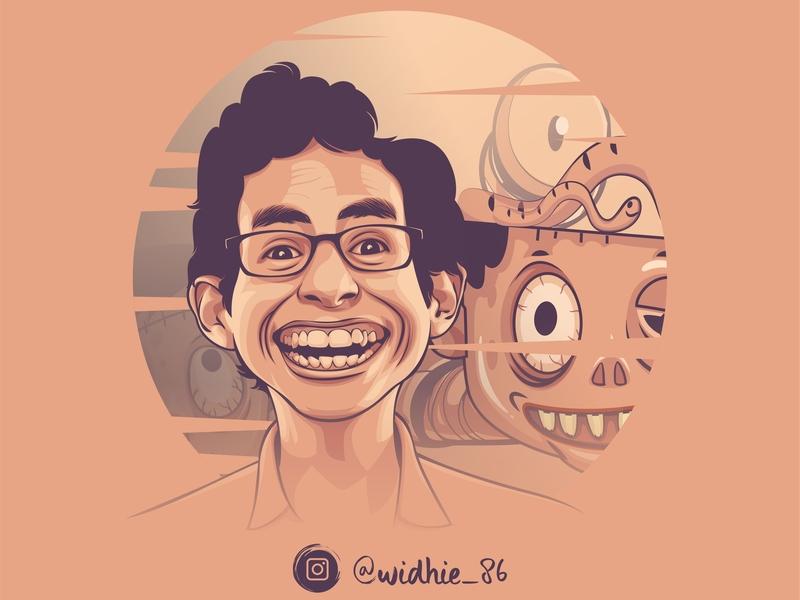 Funny Zombie 2 cartoon zombie indonesia design illustration coreldraw portrait lineart vector