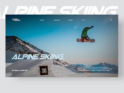 ALPINE SKIING copy design ui