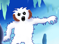 Wampa Pop Up Greeting Card - inside detail
