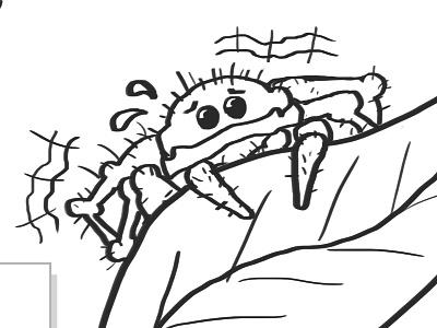 Little spider illustration illustration cartoon scared spider