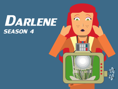 Darlene Character Card, Dice For Brains podcast podcast audio-drama stories storytelling tabletop rpg dice for brains