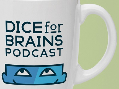 Dice For Brains Mug Mockup podcast audio-drama stories storytelling tabletop rpg dice for brains