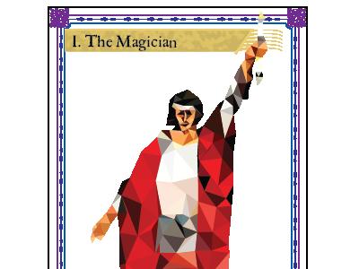 The Magician tarot card detail