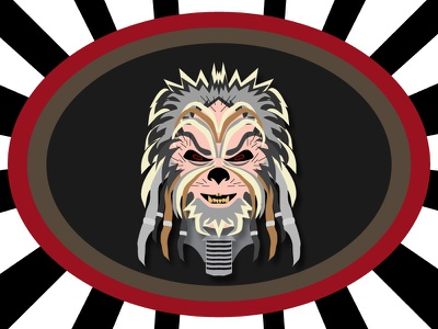 The Ravager, official character art for Dice For Brains podcast gaming tabletop rpg villain evil wookiee ravager the ravager dice for brains star wars