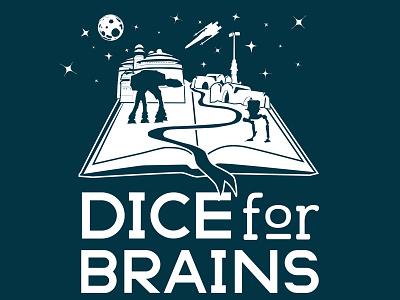 Dice For Brains logo variant logo star wars podcast rpg nerd