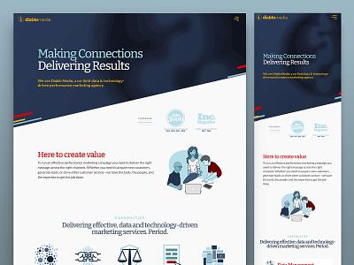 Diablo Media Website dynamic refresh branding typography illustrations web design wordpress