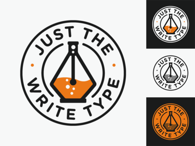 Just the Write Type Logo Concepts branding editor math technology science logo
