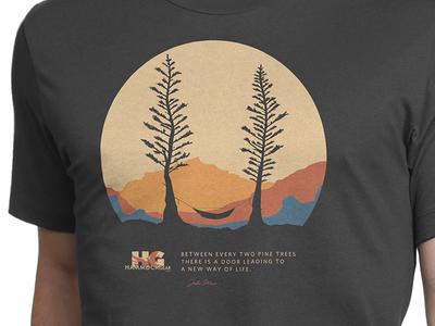 Hammock Gear Shirt trees john muir mountains apparel shirt poster hammock