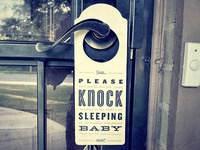 Please Knock Sleeping Baby (full view)
