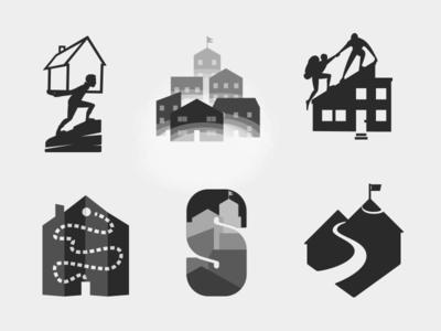 Sherpa Concepts vector guide sherpa realtor house logomark concept logo