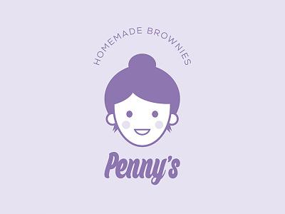 Penny's Homemade Brownies illustration design logo graphic design branding